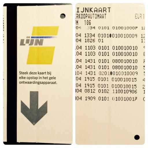 De Lijn card for bus and tram
