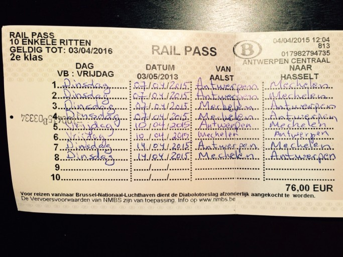 My preferred rail ticket, the Railpass