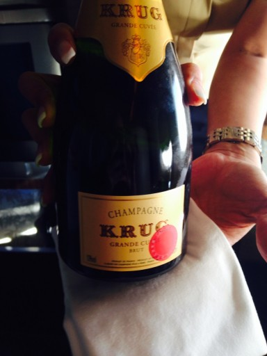Cathay Pacific First Class champagne: Krug