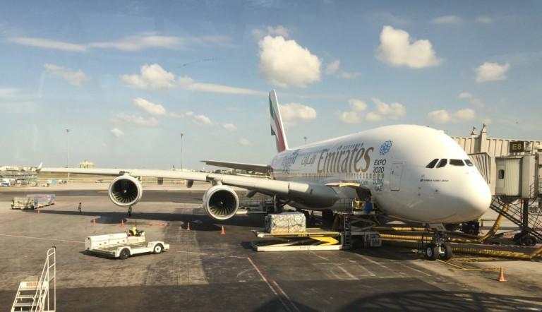 Het grote vliegtuig dat ons naar ruim 12 km hoogte brengt!