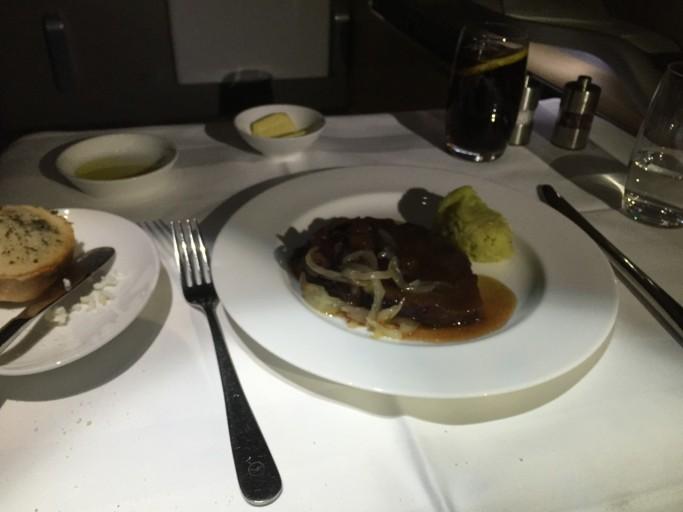 Steak en Aardappelpreipuree