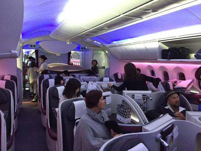 Een volle cabine!