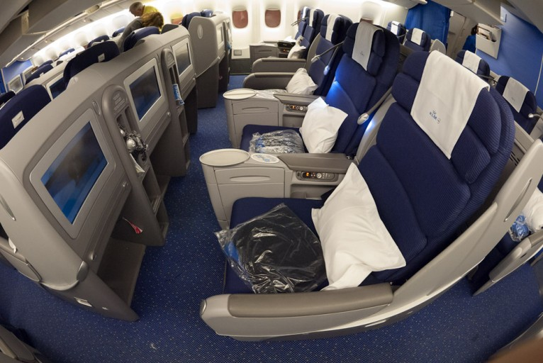 KLM World Business Class seat Airbus fleet