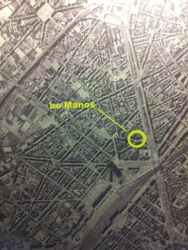 Be Manos Hotel kaart