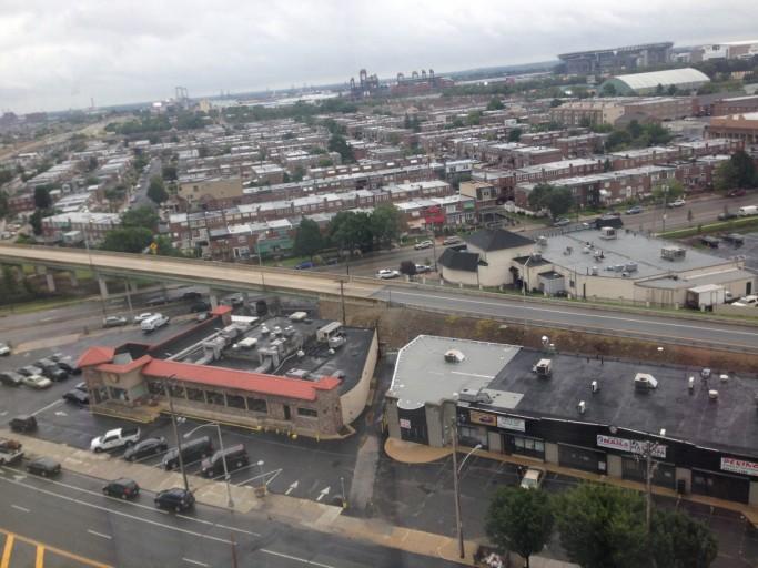 Uitzicht vanaf de 12de verdieping