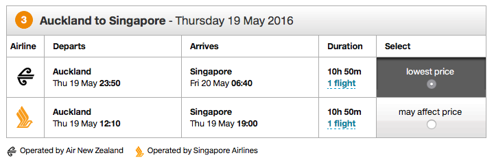 Air New Zealand RTW Ticket - Flight 3