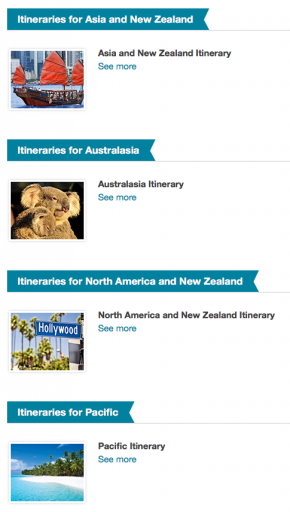 Air New Zealand RTW Ticket - Itineraries