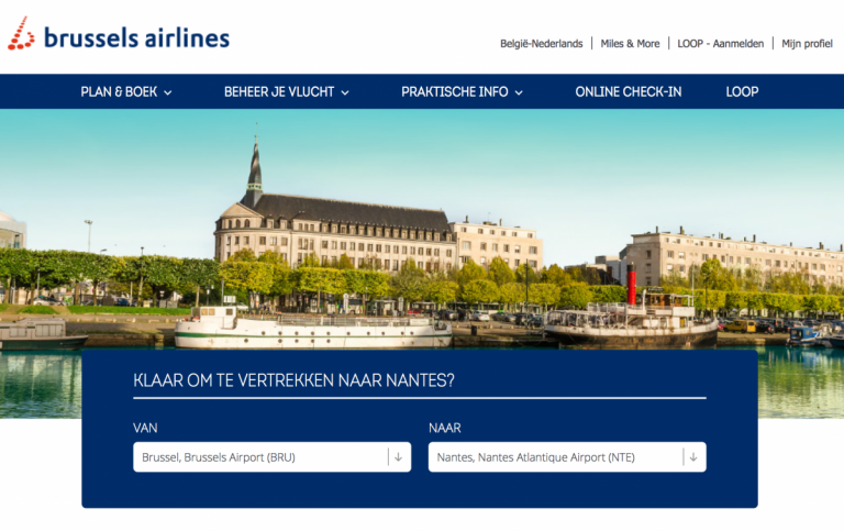 Brussels Airlines naar Nantes - Banner