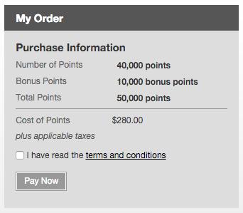Bij aankoop van het maximum aantal krijg je 10.000 punten extra