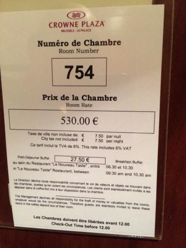 """Dit is de """"normale"""" prijs voor deze kamer!"""