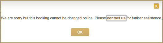 Etihad Guest Awards Boeken - Booking cannot be changed online