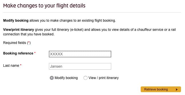 Etihad Manage My Booking