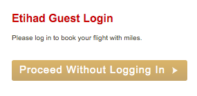Etihad Guest Awards Boeken - Proceed without logging in