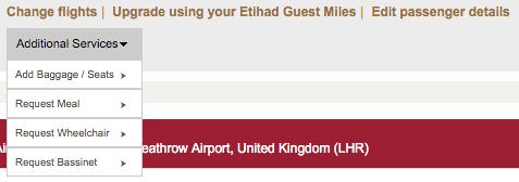 Etihad Guest Awards Boeken - Select Seats