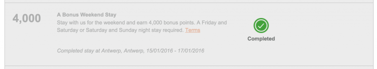 IHG Accelerate - Bonus Weekend Stay