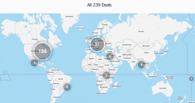 Alle wereldwijde deals overzichtelijk in kaart gebracht