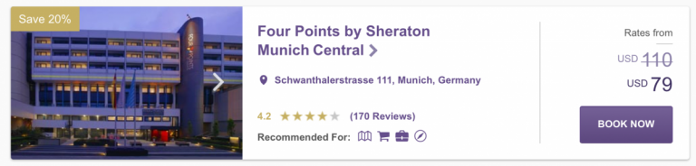 SPG Hot Escapes Week 7 - Four Points Munich Central