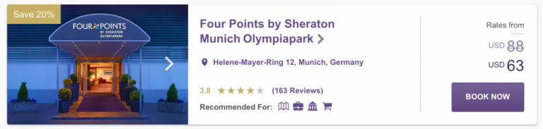 SPG Hot Escapes Week 7 - Four Points Munich Olympiapark