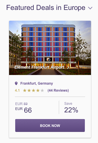 SPG Hot Escapes Week 8 - Featured Deals Europe