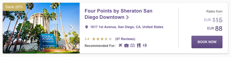 SPG Hot Escapes Week 8 - Four Points San Diego Downtown