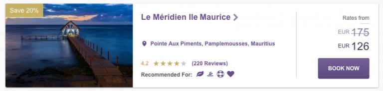 SPG Hot Escapes Week 8 - Le Méridien Ile Maurice