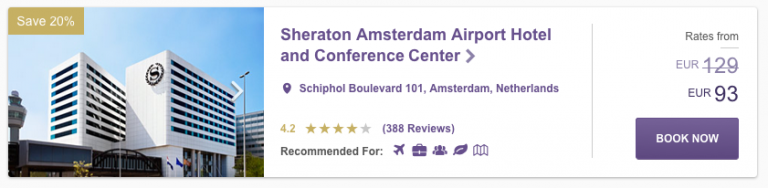 SPG Hot Escapes Week 8 - Sheraton AMS Airport