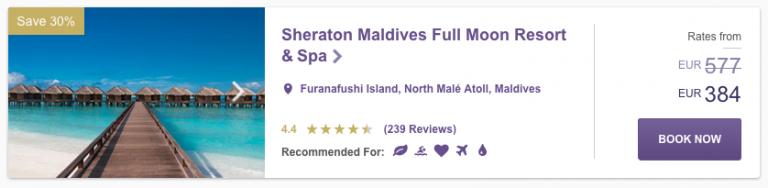 SPG Hot Escapes Week 8 - Sheraton Maldives Full Moon Resort & Spa