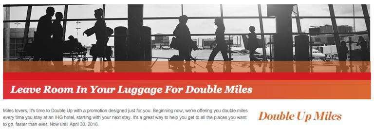 American Airlines Miles Verdienen - IHG Double Miles