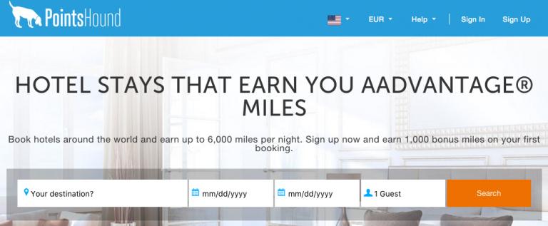 American Airlines Miles Verdienen - Pointshound