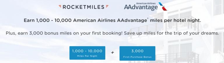 American Airlines Miles Verdienen - Rocketmiles & American Airlines