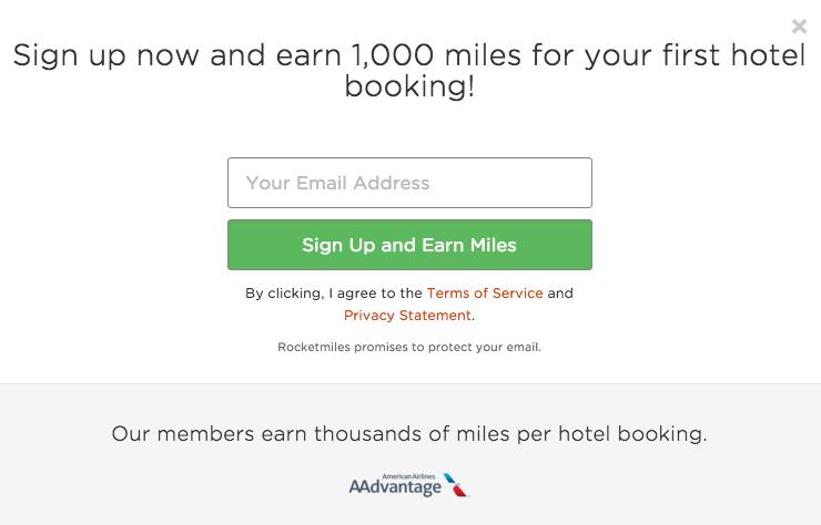 American Airlines Miles Verdienen - Rocketmiles Sign Up