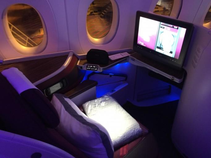 Stoel 3A - Qatar Airways A350