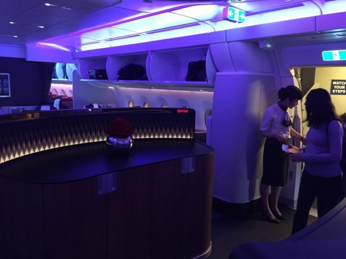 Binnenkomst Qatar Airways A350
