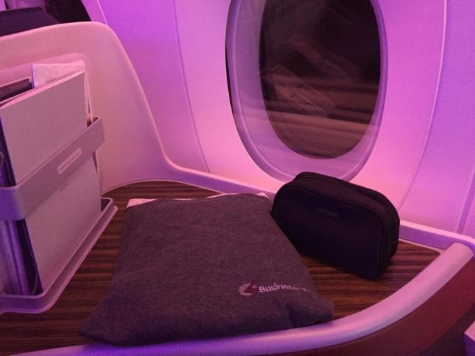 Pyjama en toilettasje Qatar Airways A350