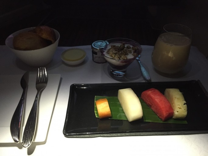Ontbijtje bij Qatar Airways