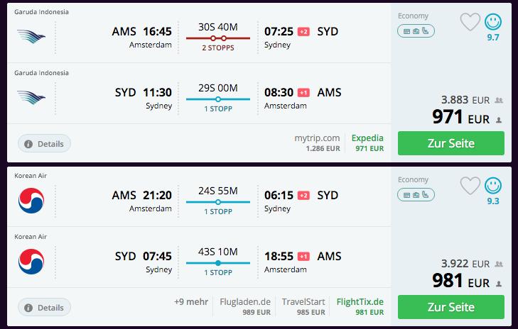 Qatar Airways Sales Maart 2016 - AMS-SYD Alternatives