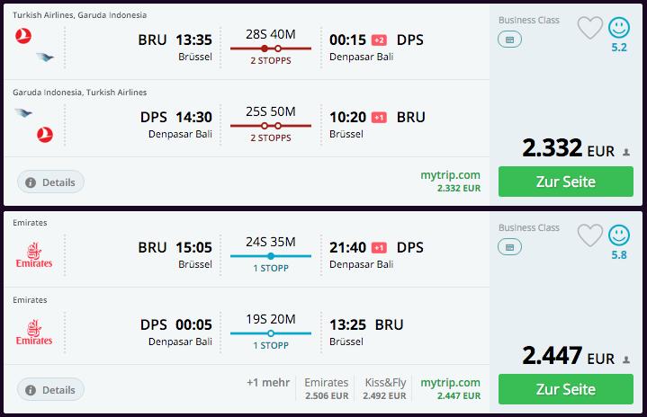 Qatar Airways Sales Maart 2016 - BRU-DPS Alternatives
