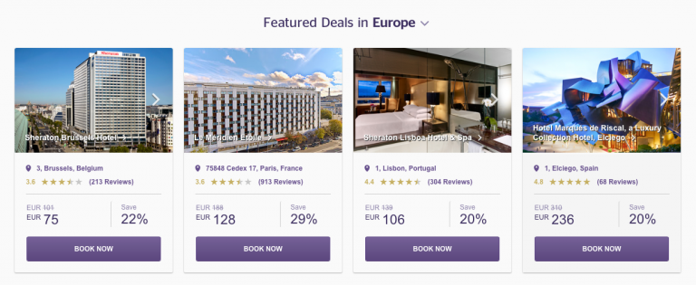 SPG Hot Escapes Week 10 - Featured Hotels In Europe
