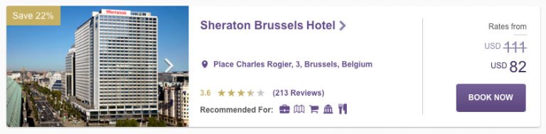 SPG Hot Escapes Week 10 - Sheraton Brussels