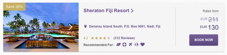 SPG Hot Escapes Week 10 - Sheraton Fiji Resort Price