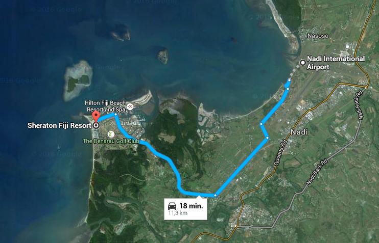 SPG Hot Escapes Week 10 - Sheraton Fiji to Nadi Airport