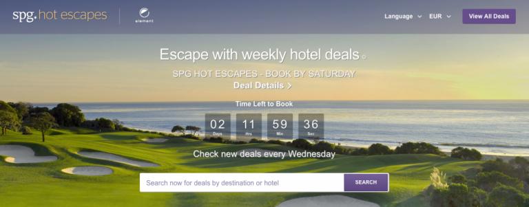 SPG Hot Escapes Week 11 - Banner