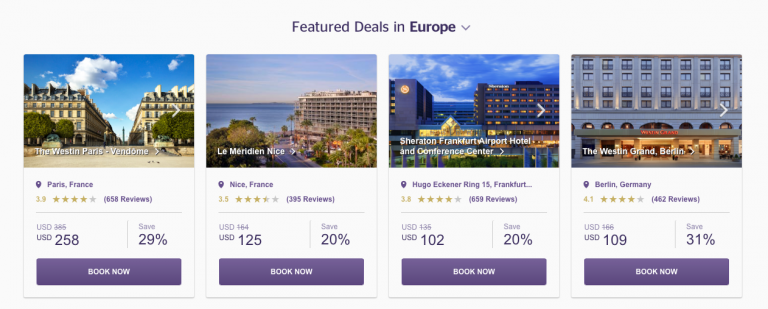 SPG Hot Escapes Week 11 - Featured Deals Europe