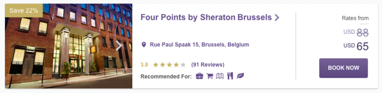 SPG Hot Escapes Week 11 - Four Points by Sheraton Brussels