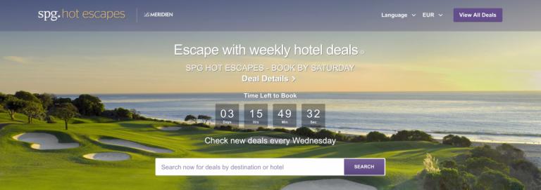 SPG Hot Escapes Week 9 - Banner