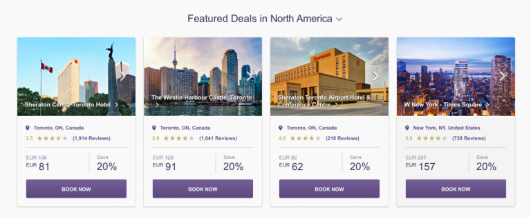 SPG Hot Escapes Week 9 - Featured Deals In North America