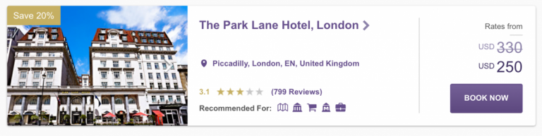 SPG Hot Escapes Week 9 - The Park Lane Hotel London