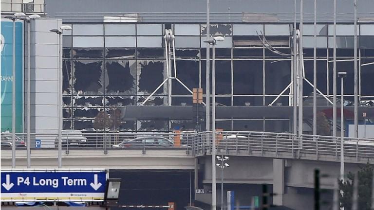 Het Brusselse vliegveld Zaventem na de aanslag