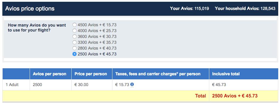 Avios + Money: al een vlucht te boeken voor 2500 Avios!