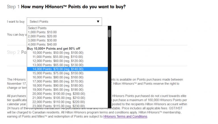 HHonors punten kopen